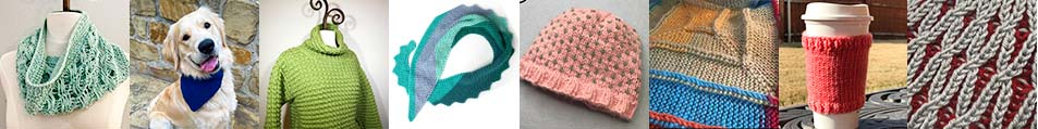 loom knit pattern index image collage