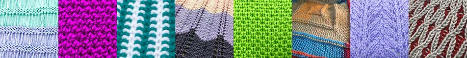 loom knit stitch pattern library image collage