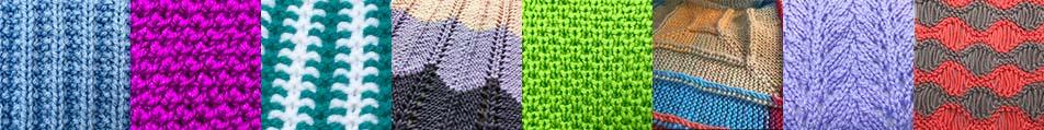 needle knit stitch pattern library collage