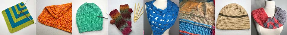 needle knit pattern index collage