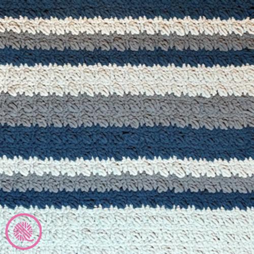 crossed cluster blanket stripes